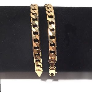 Other - 14K Gold Plated Cuban Link Chain Bracelet